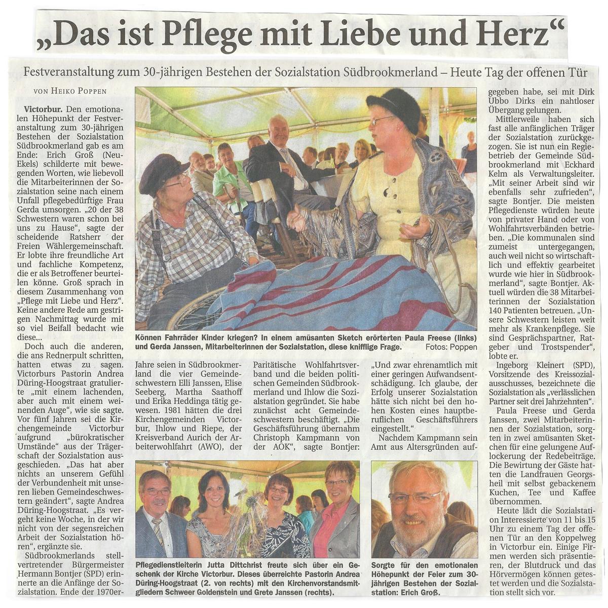 Presse sozialstation s dbrookmerland - Land und liebe badmobel ...